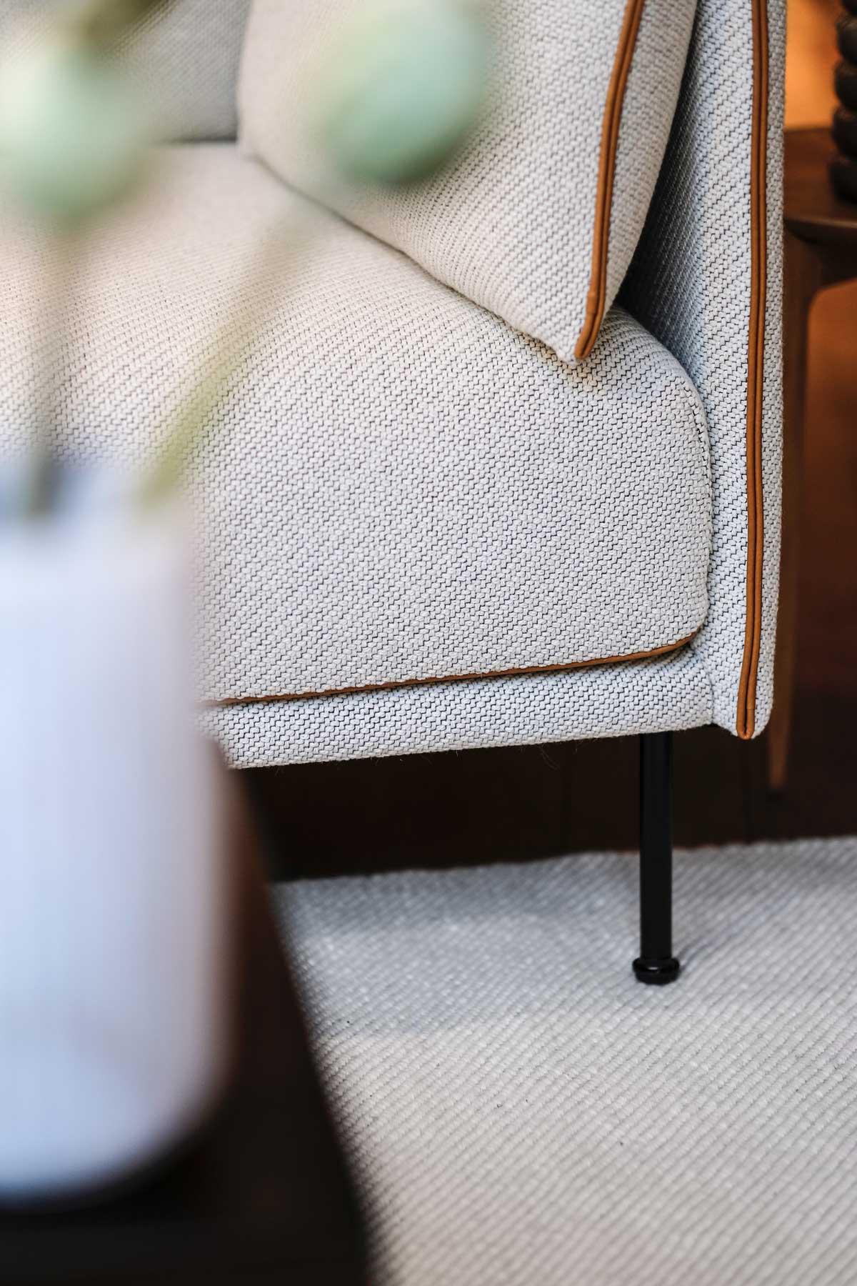HAY Silhouette Soffa med cognacfärgad piping