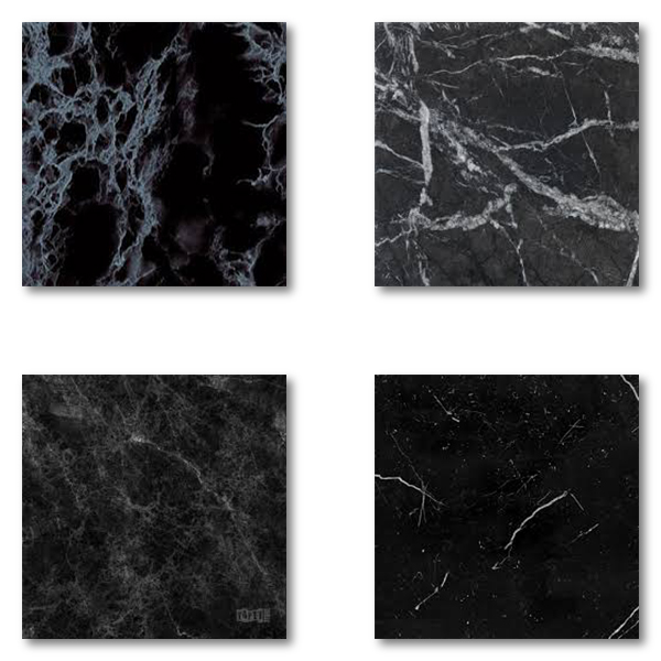Marmor är ett naturmaterial och kan därför variera kraftigt i toner av svart