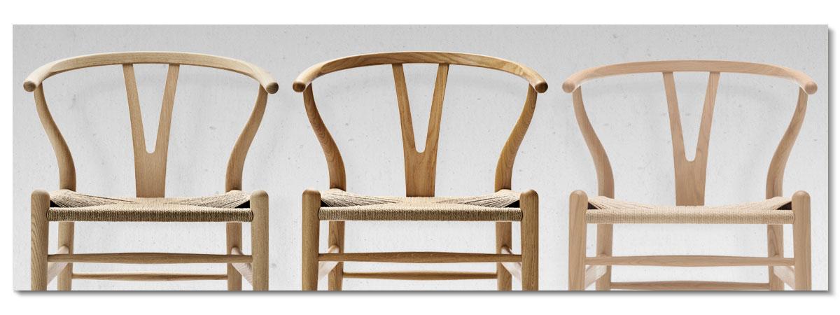 CH24 Y-stolen Såpad, oljad och vitoljad ek från Carl Hansen