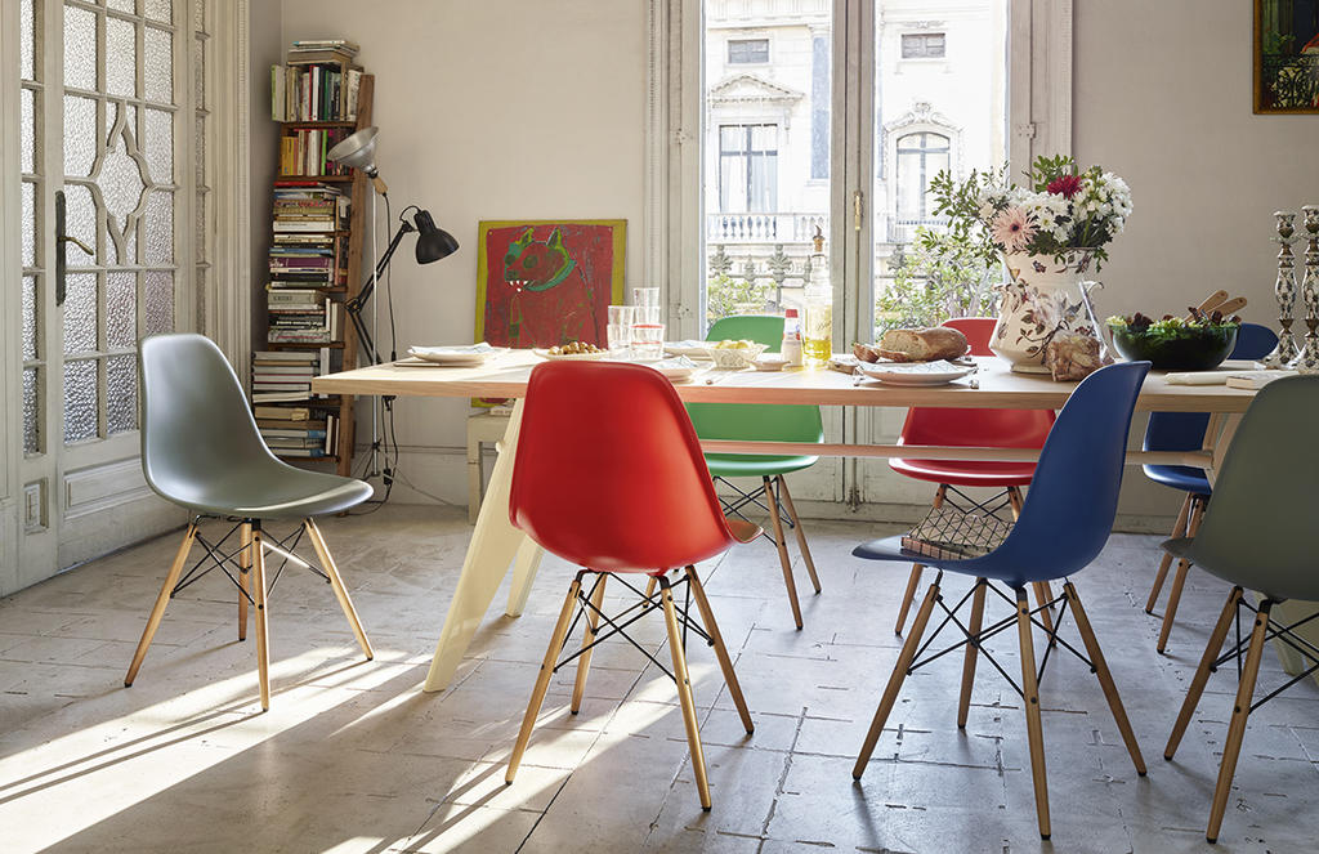 Eames Plastic Chair DSW Stol