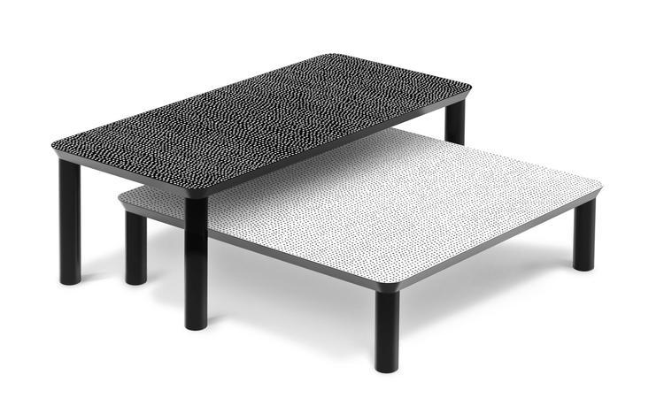 Zanotta 661 Spotty Soffbord i vit och svart färg