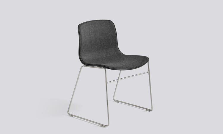 About a Chair AAC08 Stol med rostfritt stål och tyget Remix 173