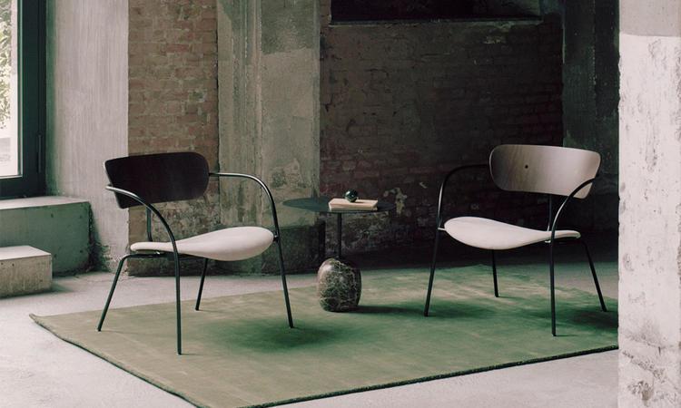 &Tradition Pavilion Lounge Chair AV6 Fåtölj med klädd sits
