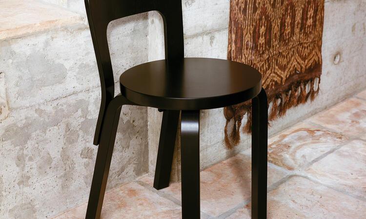 Artek Chair 65 Matstol Svart