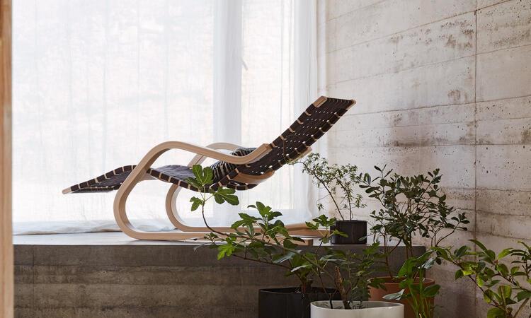 Artek Lounge Chair  43 Liggfåtölj Svart Brun