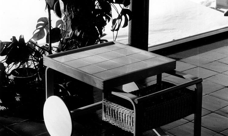 Artek Tea Trolley 900 Tevagn Vit
