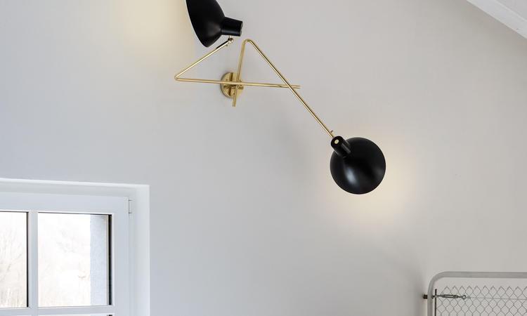 Astep VV Cinquanta Twin Vägglampa svart/mässing