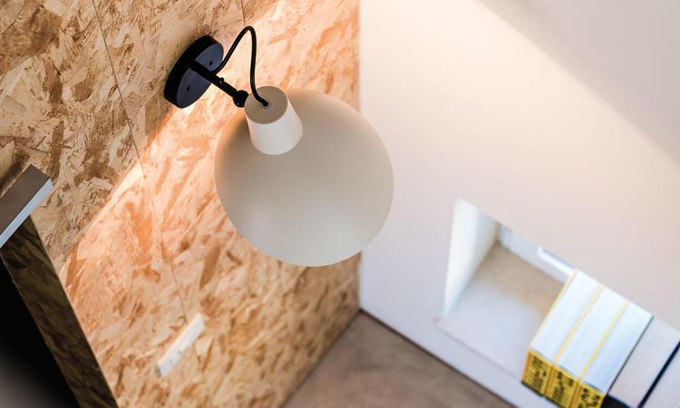 Astep VV Cinquanta Vägglampa vit/svart