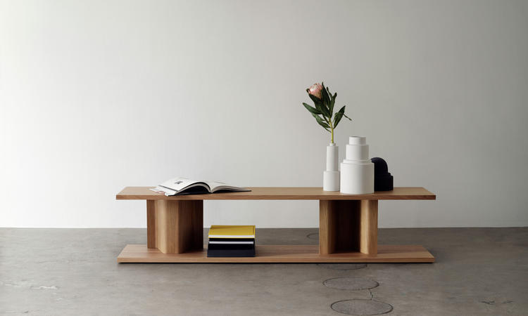 Massproductions BIT Side Table Sidobord i naturlig ek