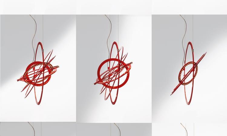 Artemide Copernico 500 Pendel Röd