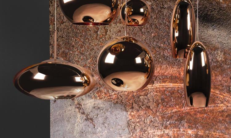 Copper Shade kallas nu Copper Pendant och finns i tre olika formspråk