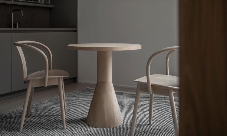 Massproductions Draft Dining Table Matbord i naturlig bok