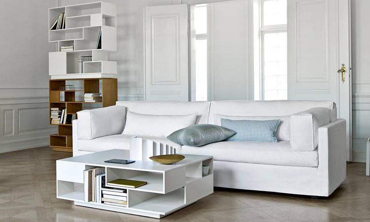 Eilersen Penthouse Soffbord och reol i vit och ek