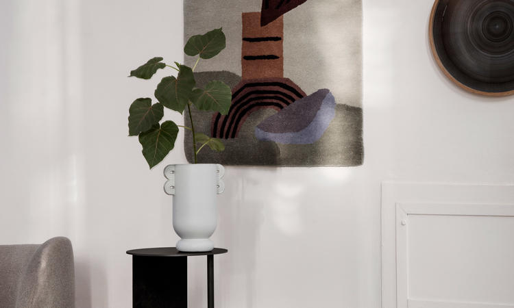 Ferm Living Meet Tufted väggdekoration/matta i beige