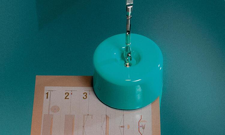 Flos Parentesi 50 Taklampa Golvlampa Turquoise
