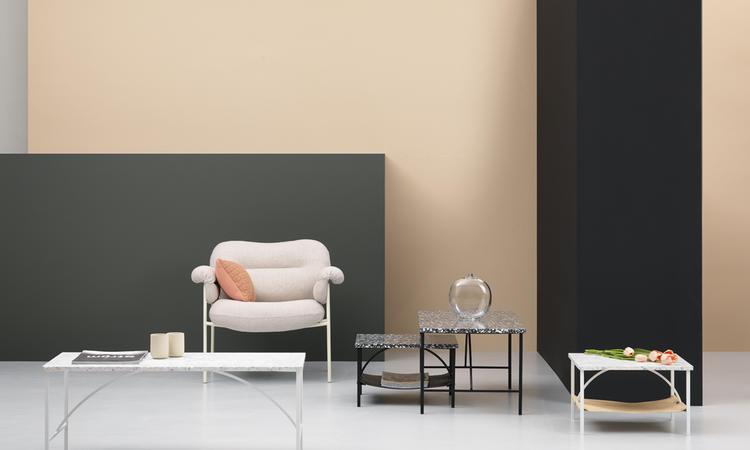 Soffbord i terazzo skapat av Note Design Studio