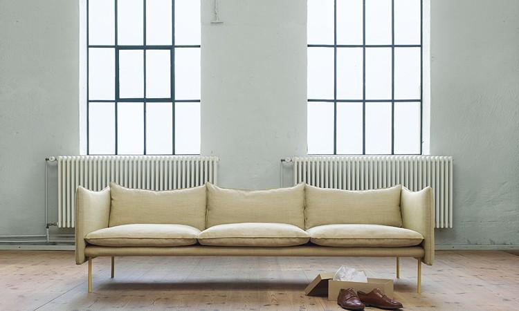 Tiki från Fogia är en vacker soffa som finns i både tyg och läder