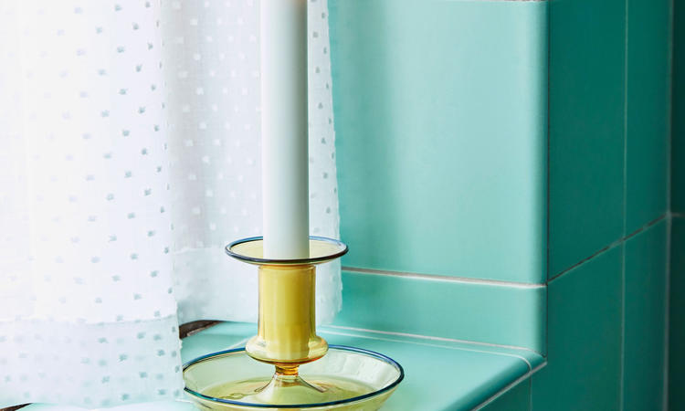 Hay Flare Candleholder Yellow Ljusstake