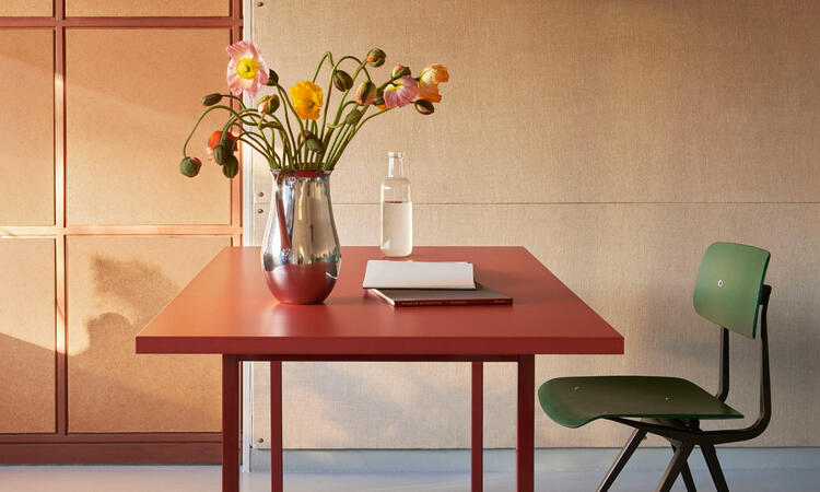 HAY Two-Colour Table 160x82 cm Maroon/Red