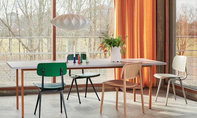 HAY Two-Colour Table 240x90 cm Ochre/Light Beige