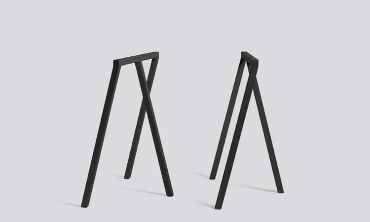 HAY Loop Stand benbockar 2-pack svart