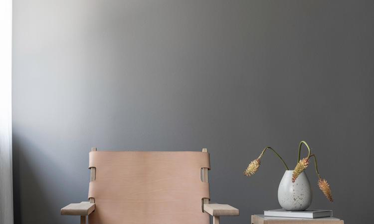 Klassik Studio KØ Hunting Chair Fåtölj i massiv ek med naturfärgat läder