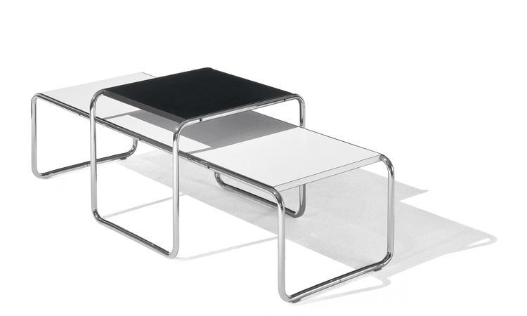 Knoll Laccio Low Table Rectangular Soffbord i vit och svart