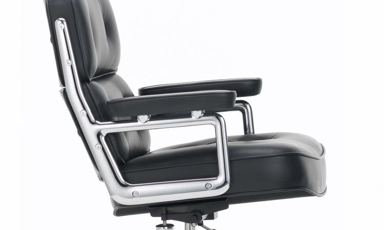 Vitra Lobby Chair ES 104 Kontorsstol i svart läder