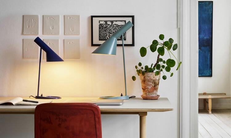 Louis Poulsen AJ Mini Table Lamp Midnight Blue Pale Petroleum
