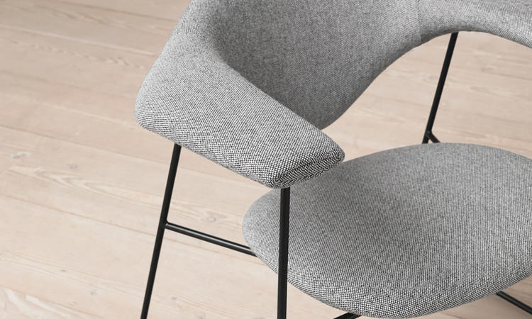Gubi Masculo Dining Chair Grey
