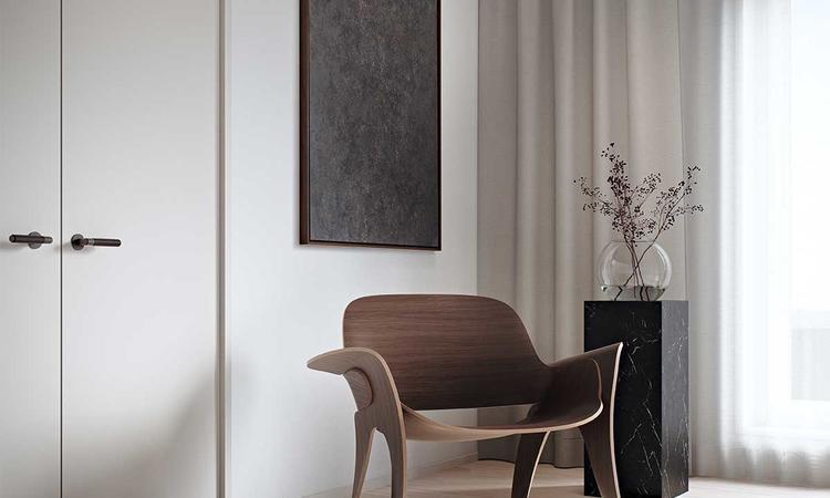 Massproductions Rose Chair Fåtölj i valnötsbetsad bok
