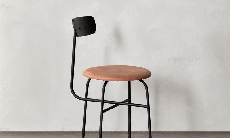 Menu Afteroom Dining Chair 4 Stol i svart och läder