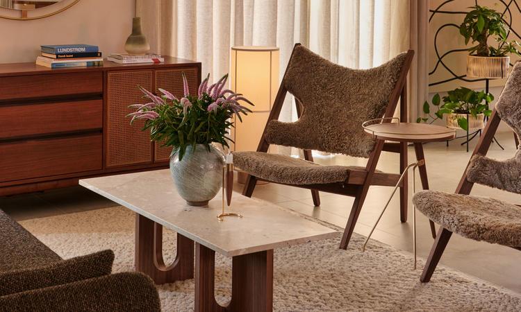 Menu Androgyne Lounge Table Walnut Kunis Breccia Stone