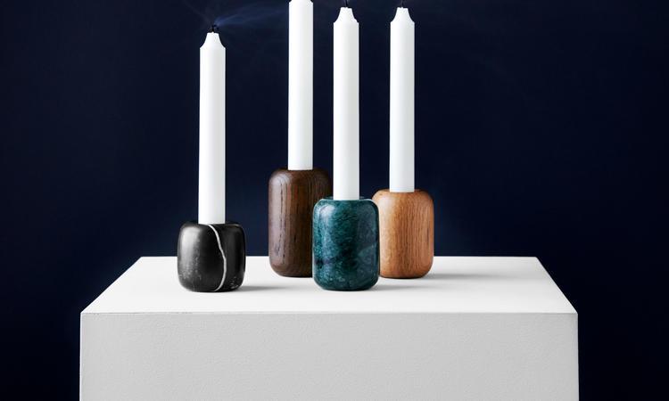 New Works Balance Candle Holder ljusstake svart marmor