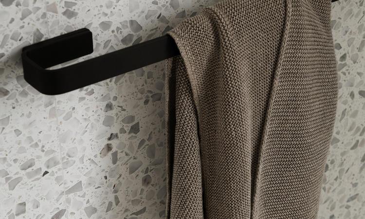 Menu Norm Bath Towel Bar Handdukshållare Svart