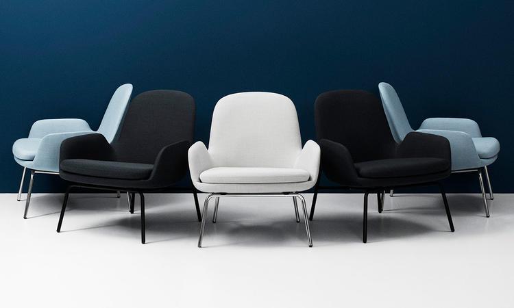 Normann Copenhagen Era Lounge Chair Low Fåtölj i tyg