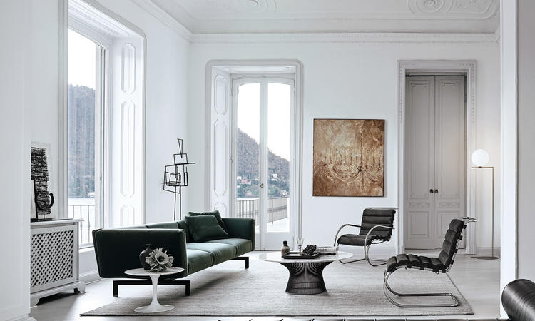 Knoll Platner Coffee Table Soffbord i marmor och stål