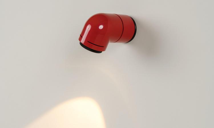 Santa & Cole Petit Tatu Vägglampa Röd