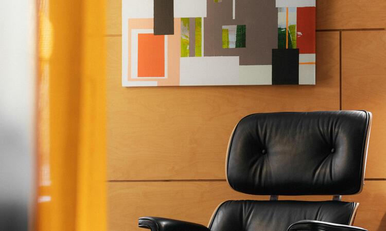 Simon Vendin Collage Tavla 80x80 cm