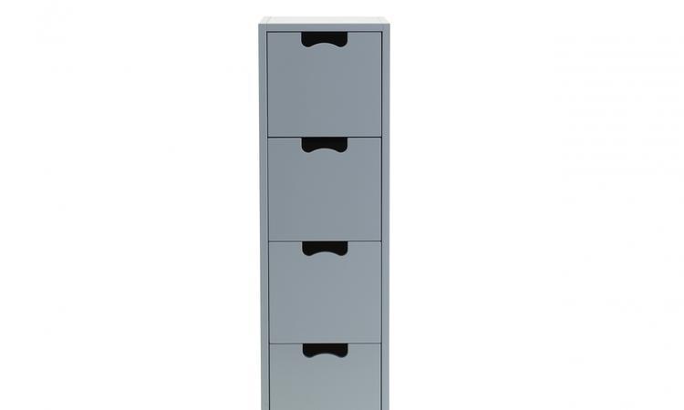 Asplunds piedestal med fyra praktiska lådor