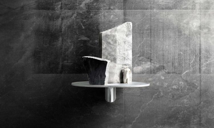String Furniture Museum Hylla i grå färg