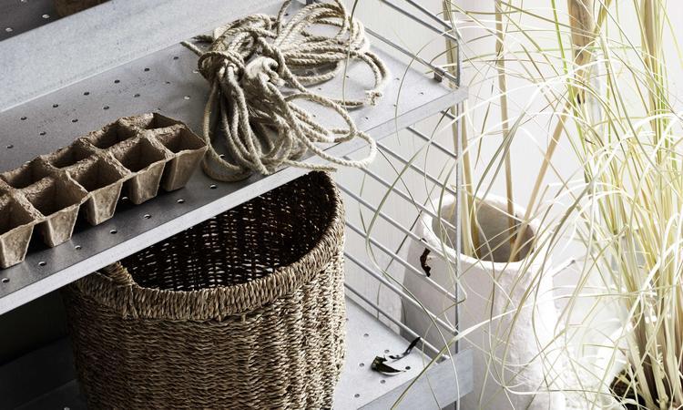 Stringhylla i galvaniserat stål