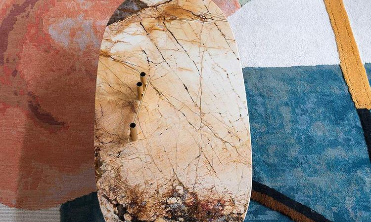 Tacchini Soap Soffbord Marmor