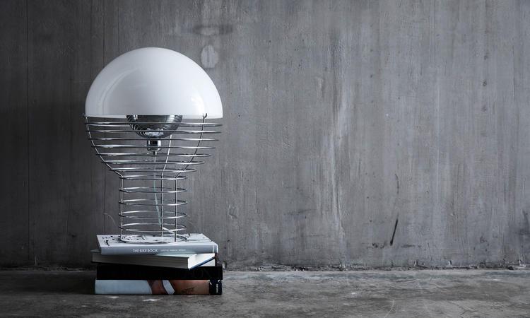 Verpan Wire Bordslampa Vit av Verner Panton