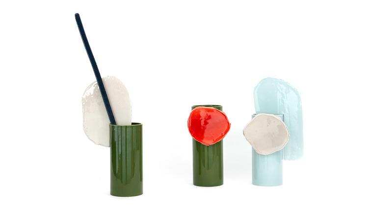 Vitra Decoupage Vas Disque Barre Feuille