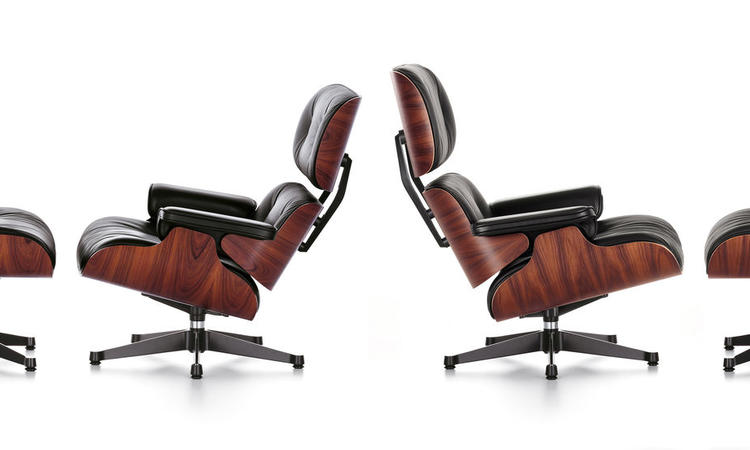 Vitra Charles & Ray Eames Lounge Chair Classic Dimensions och New Dimensions
