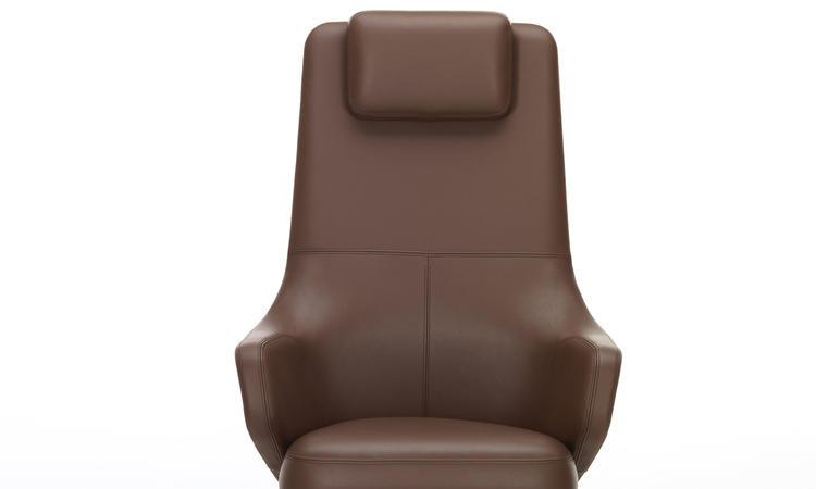 Vitra Grand Executive Highback Kontorsstol i brunt läder