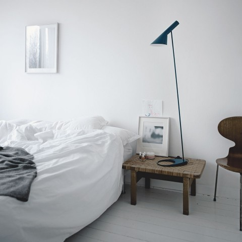 erbjudande arne jacobsen golvlampa olsson gerthel. Black Bedroom Furniture Sets. Home Design Ideas