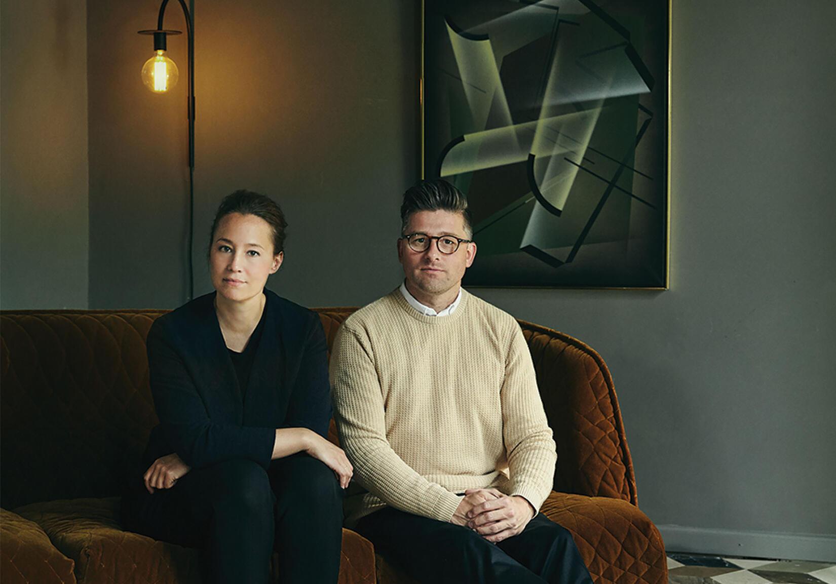 Grundarna Rasmus och Ida Linea Hildebrand bakom Friends & Founders