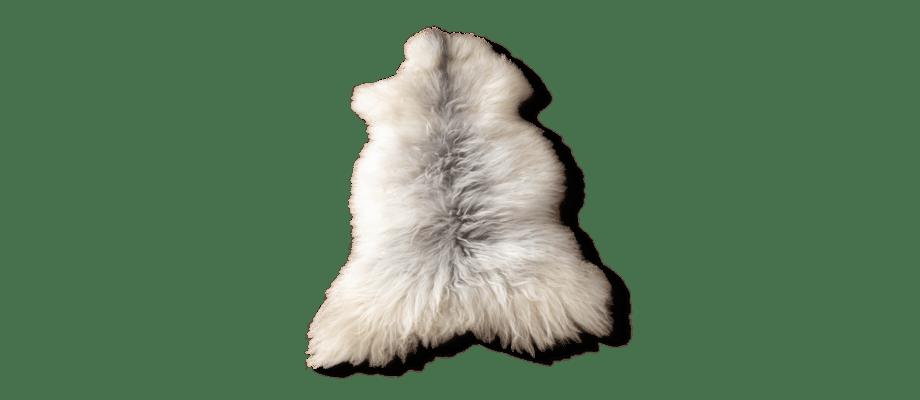 Karlsbergs Gård Långhårigt fårskinn i vitt och grått